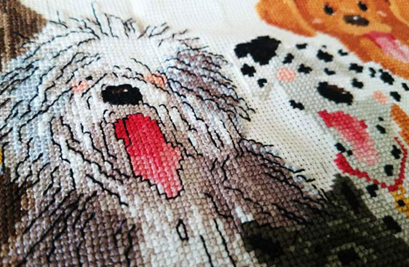 Backstitch'e :: Haft Krzyżykowy Psy Suzy's ZOO