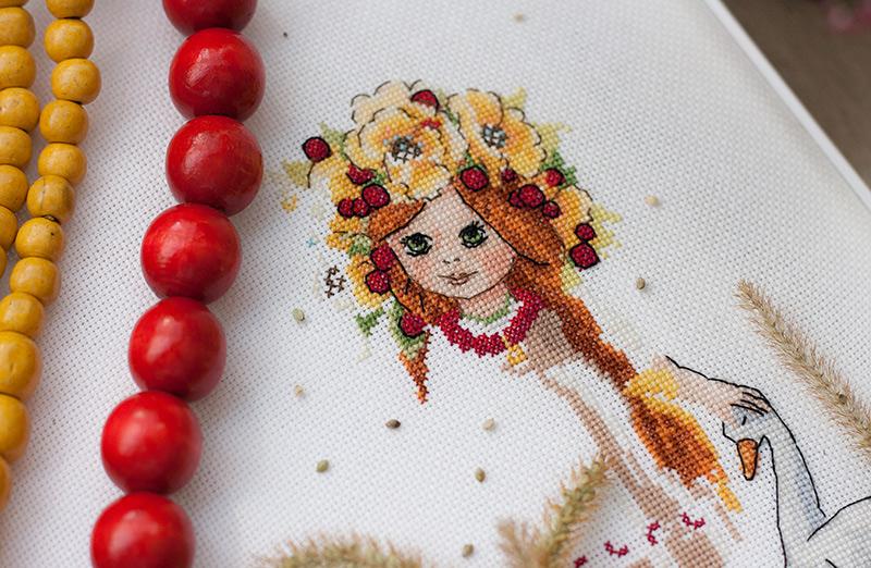 Wzory haftu krzyżykowego z dziećmi