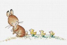 34 bezpłatne wzory haftu krzyżykowego na Wielkanoc