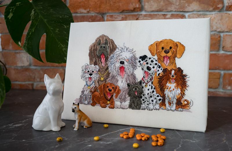 Psy wzór haftu Suzy's Zoo